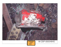 Cockpit Voice Recorder as recovered at the Flight 93 crash site on September 14, 2001.