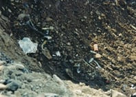 The FDR as first seen in the crater excavation on September 13.