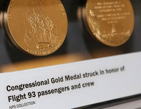 Congressional Gold Medal struck in honor of Flight 93 passengers and crew